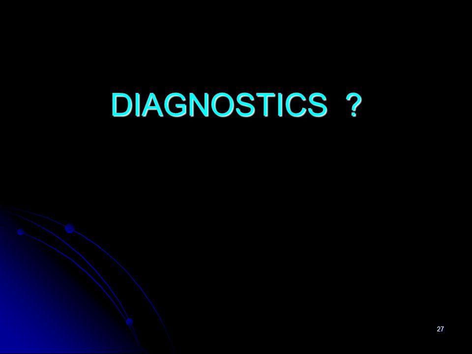 27 DIAGNOSTICS