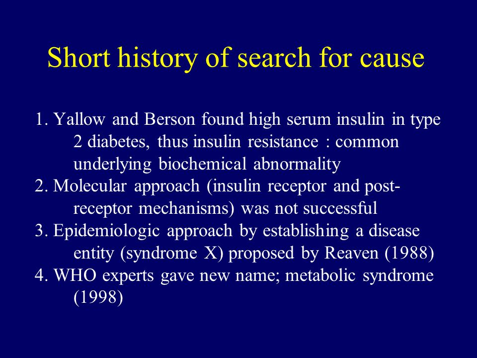 Short history of search for cause 1.