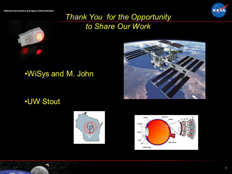 1 1 Thank You for the Opportunity to Share Our Work WiSys and M. John UW Stout