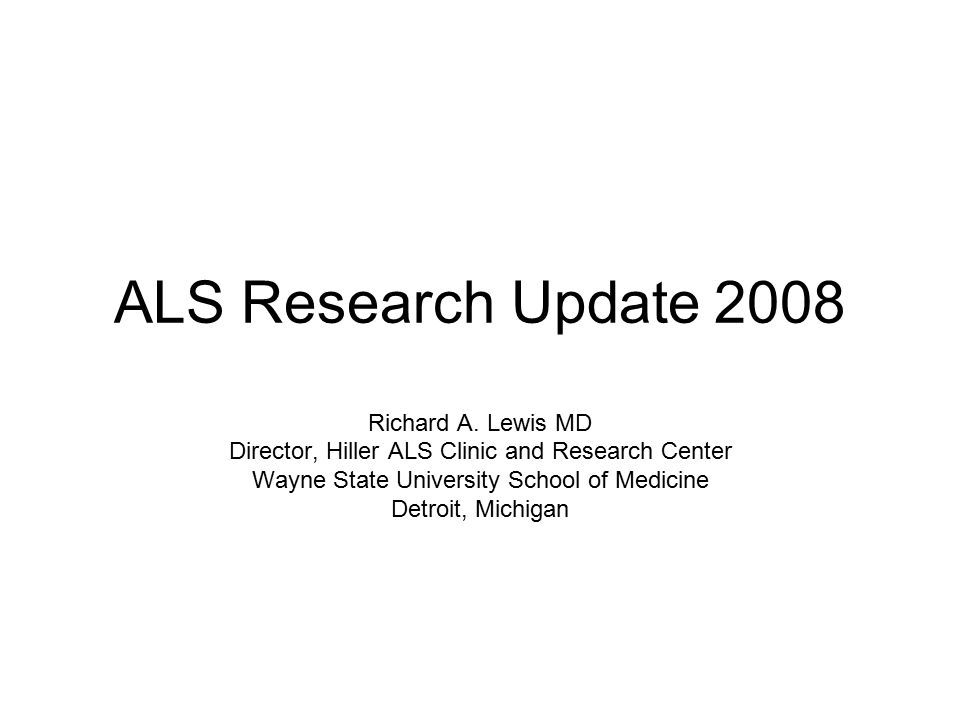 Main Research Area Sub Research Area Clinical Trials Disease Process of ALSAxon Structure and Dynamics Cell Death and Apoptosis Cognitive Changes with ALS [Frontotemporal Dementia] Glutamate Inflammation Mitochondria SOD1 and ALS (copper zinc superoxide dismutase 1) Environmental Factors Genetics of ALS Laboratory Models of ALS Therapies for ALSCell Targets Gene Therapy RNA Therapy Stem Cells Trophic Factors Biomarkers Current Research Areas (as shown on ALSA website)