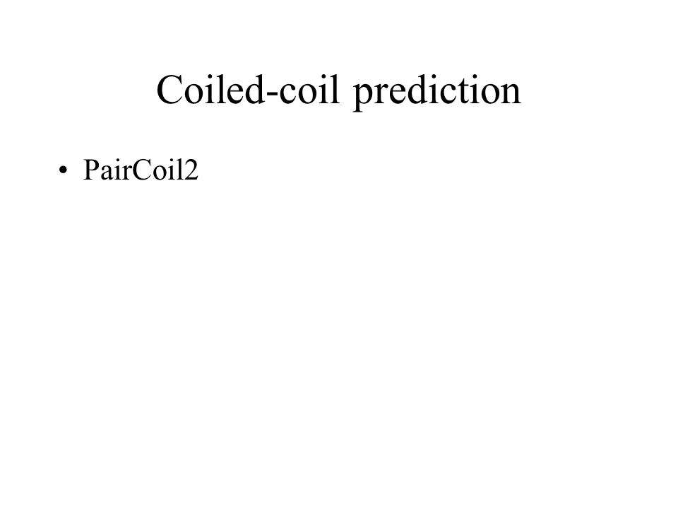 Coiled-coil prediction PairCoil2
