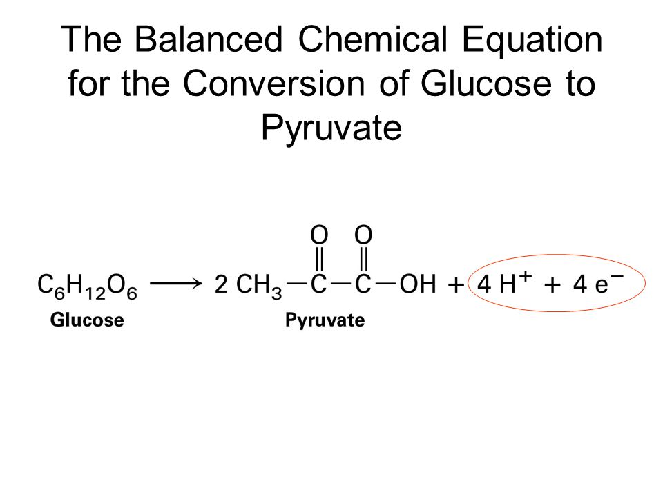 The Balanced Chemical Equation for the Conversion of Glucose to Pyruvate