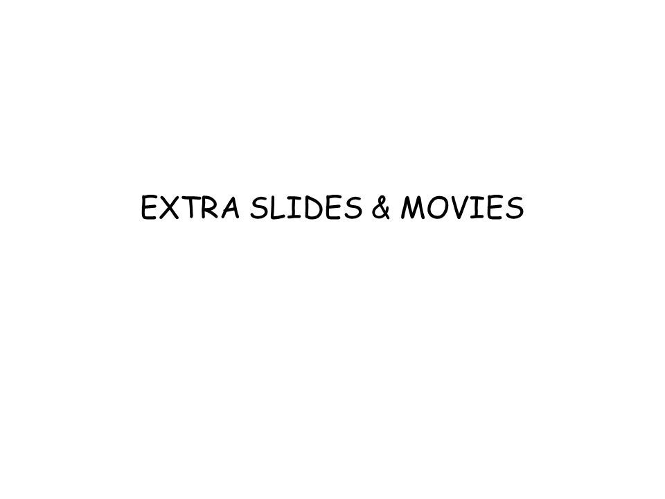 EXTRA SLIDES & MOVIES