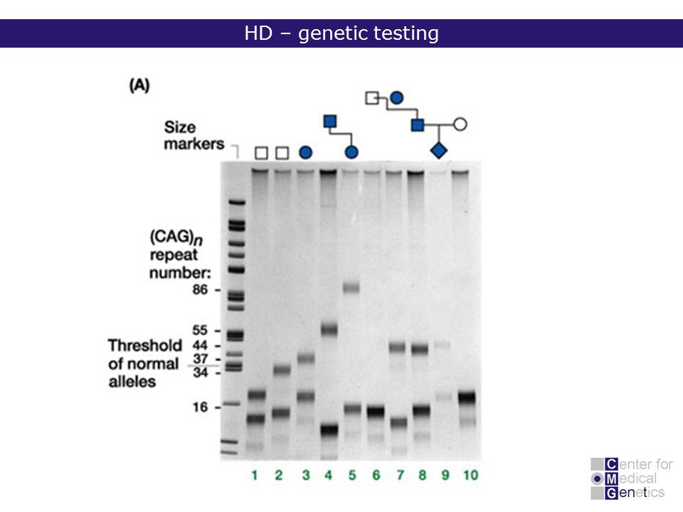 HD – genetic testing