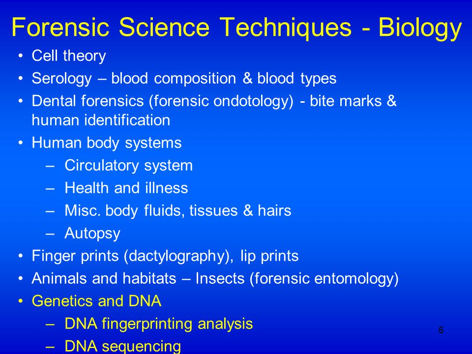 Blood-typing and DNA Analysis 1901: Human blood groups identified by Karl Landsteiner –Major problem of ABO blood typing: blood protein markers are not found in semen 1909: Chromosomes discovered to carry hereditary information 1980: David Botstein and others used RFLP to construct a human gene map 1984: Kary Mullis invented PCR methods, DNA fingerprinting was developed by Jeffries 1987: First time DNA evidence was used to convict a person in the US (The Pitchfork Case) 17
