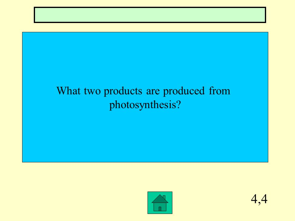4,3 What is the chemical formula for photosynthesis