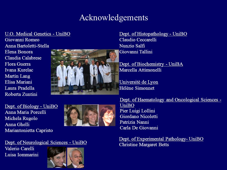 Acknowledgements U.O.