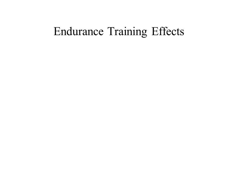 Endurance Training Effects