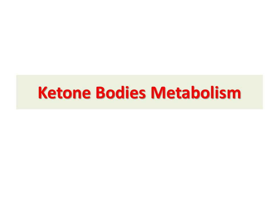 Ketone Bodies Metabolism