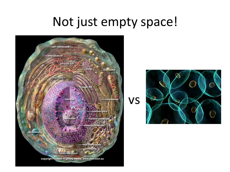 Not just empty space! vs