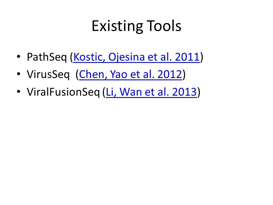 Existing Tools PathSeq (Kostic, Ojesina et al. 2011)Kostic, Ojesina et al.