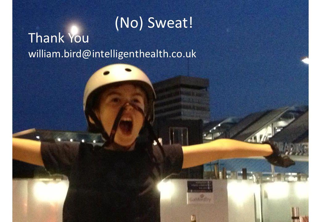 Thank You william.bird@intelligenthealth.co.uk (No) Sweat!