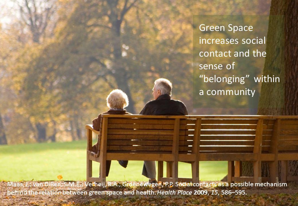© 2012 Intelligent Health/NHS London Maas, J.; van Dillen, S.M.E.; Verheij, R.A.; Groenewegen, P.P.