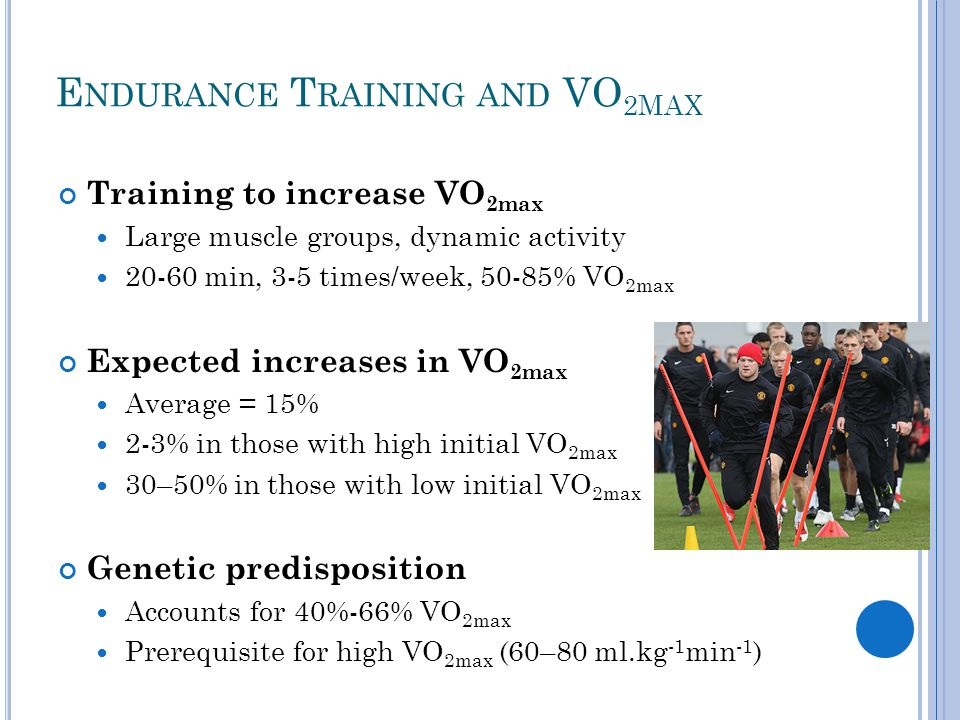 R ANGE OF VO 2 MAX V ALUES IN THE P OPULATION