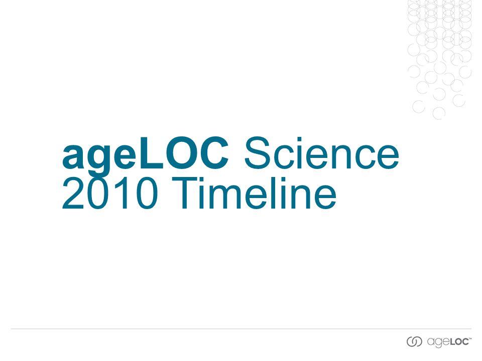 ageLOC Science 2010 Timeline