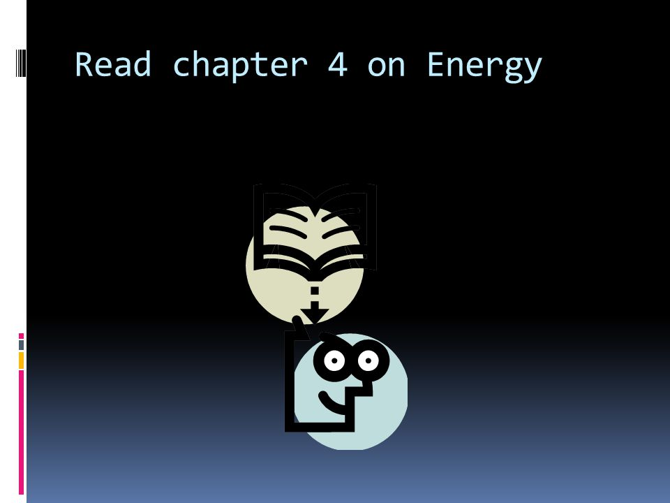 Read chapter 4 on Energy