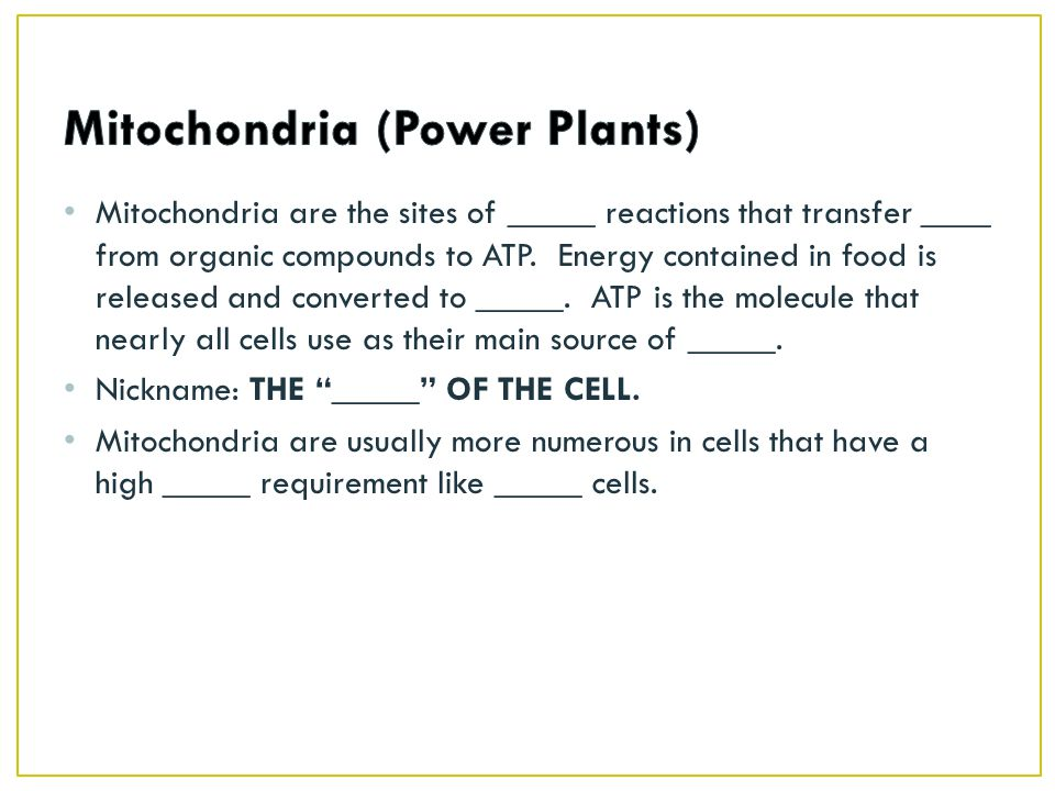 Mitochondria are the sites of _____ reactions that transfer ____ from organic compounds to ATP.