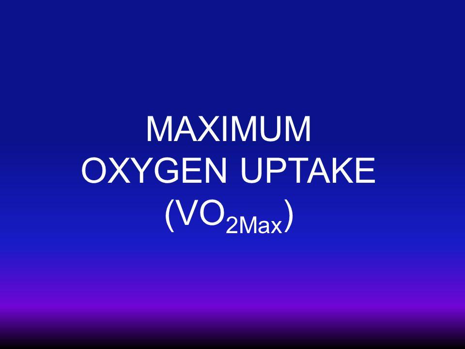 MAXIMUM OXYGEN UPTAKE (VO 2Max )