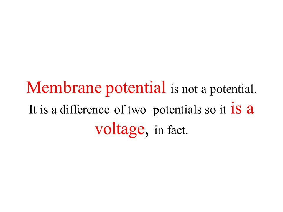 Membrane potential is not a potential. It is a difference of two potentials so it is a voltage, in fact.