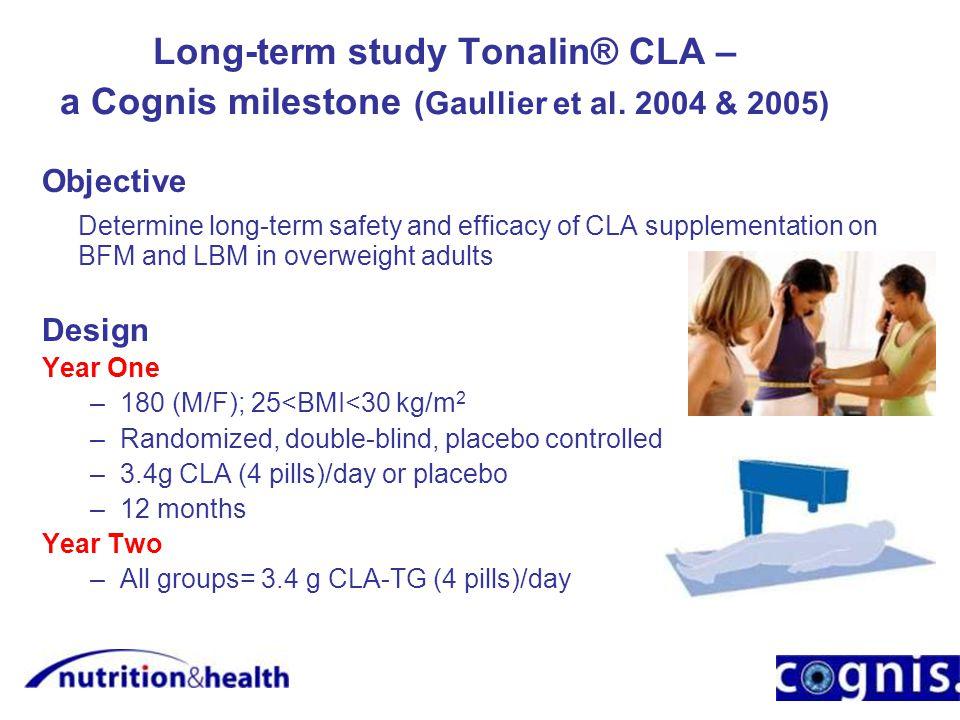Long-term study Tonalin® CLA – a Cognis milestone (Gaullier et al.