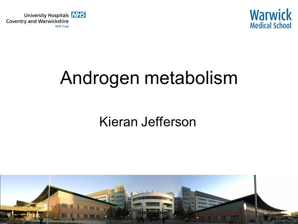 Androgen metabolism Kieran Jefferson