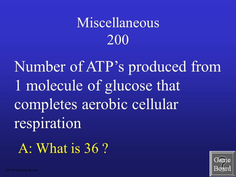 Miscellaneous 100 A: What is glycolysis.