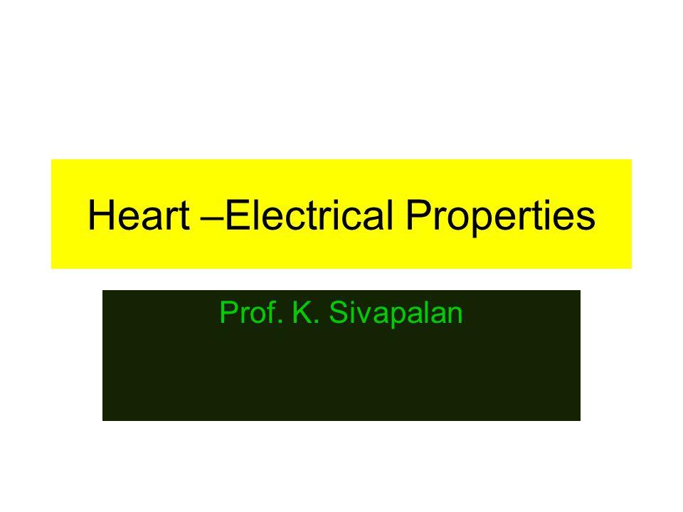 Heart –Electrical Properties Prof. K. Sivapalan