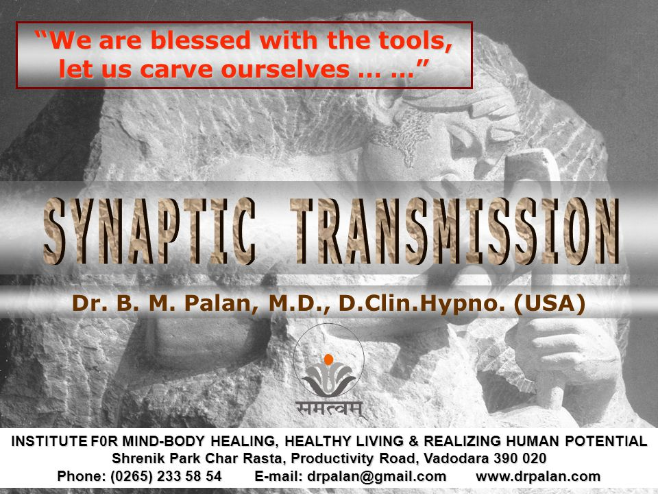 We are blessed with the tools, let us carve ourselves … … Dr.