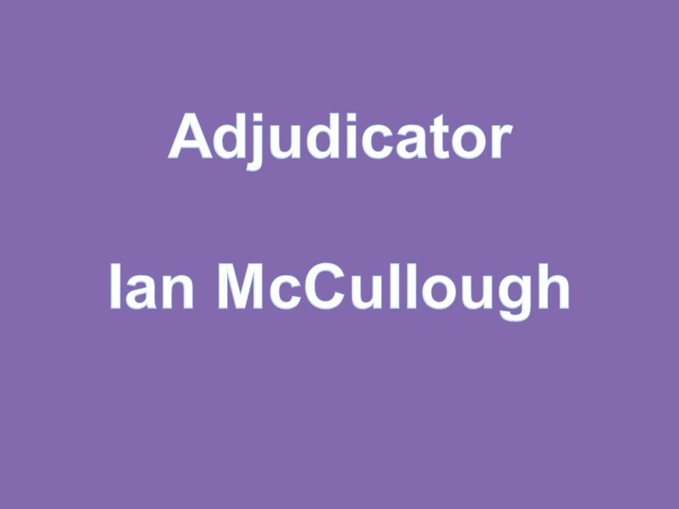 Adjudicator Ian McCullough
