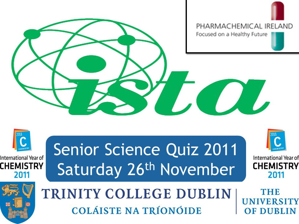 Senior Science Quiz 2011 Saturday 26 th November 85