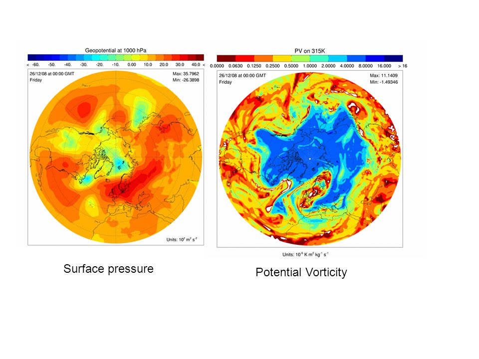 Surface pressure Potential Vorticity