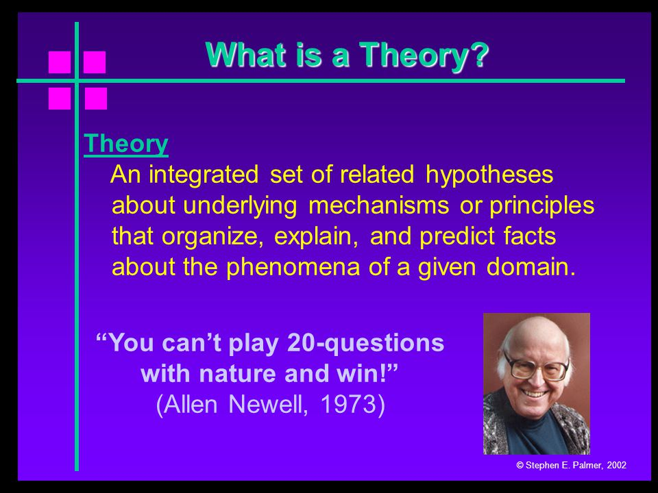 Constructivism © Stephen E. Palmer, 2002 (both) Logical Inference Likelihood Analysis