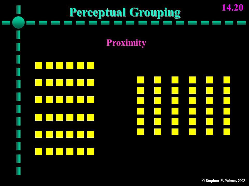 © Stephen E. Palmer, 2002 14.20 Proximity Rows Columns Perceptual Grouping