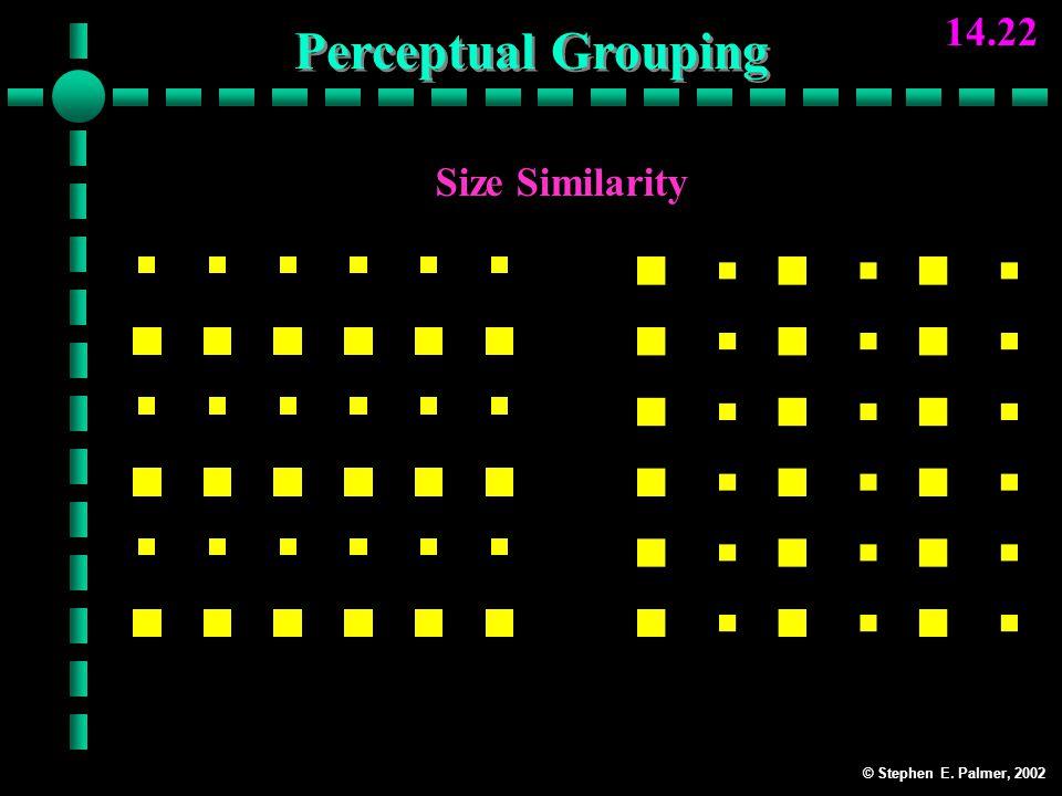 © Stephen E. Palmer, 2002 14.22 Size Similarity RowsColumns Perceptual Grouping