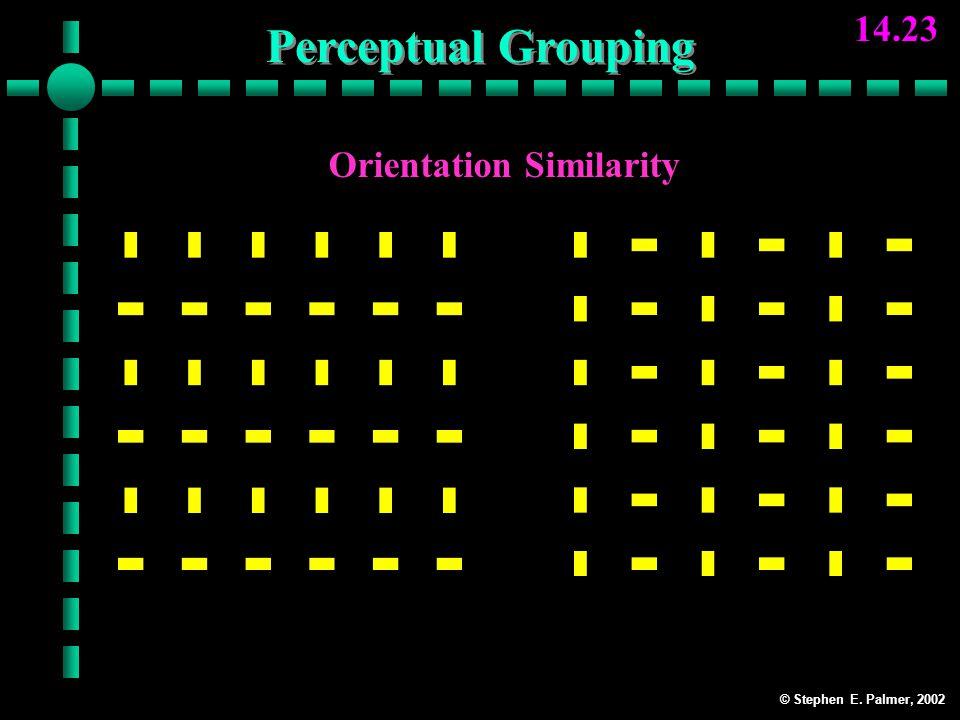 © Stephen E. Palmer, 2002 14.23 Orientation Similarity RowsColumns Perceptual Grouping