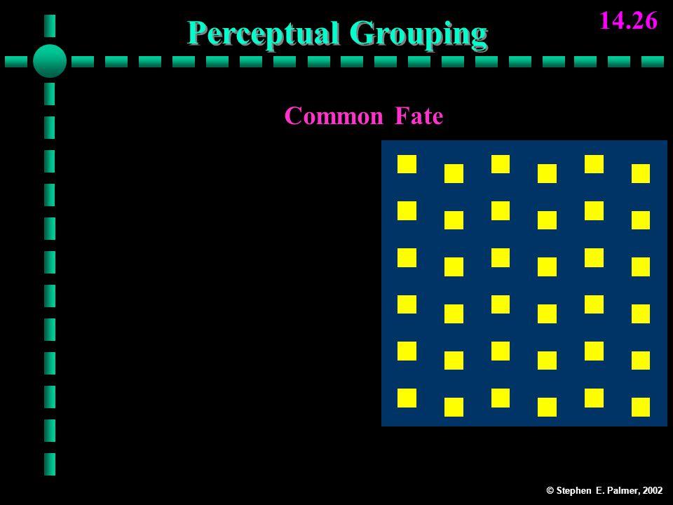 © Stephen E. Palmer, 2002 14.26 Common Fate Columns Perceptual Grouping