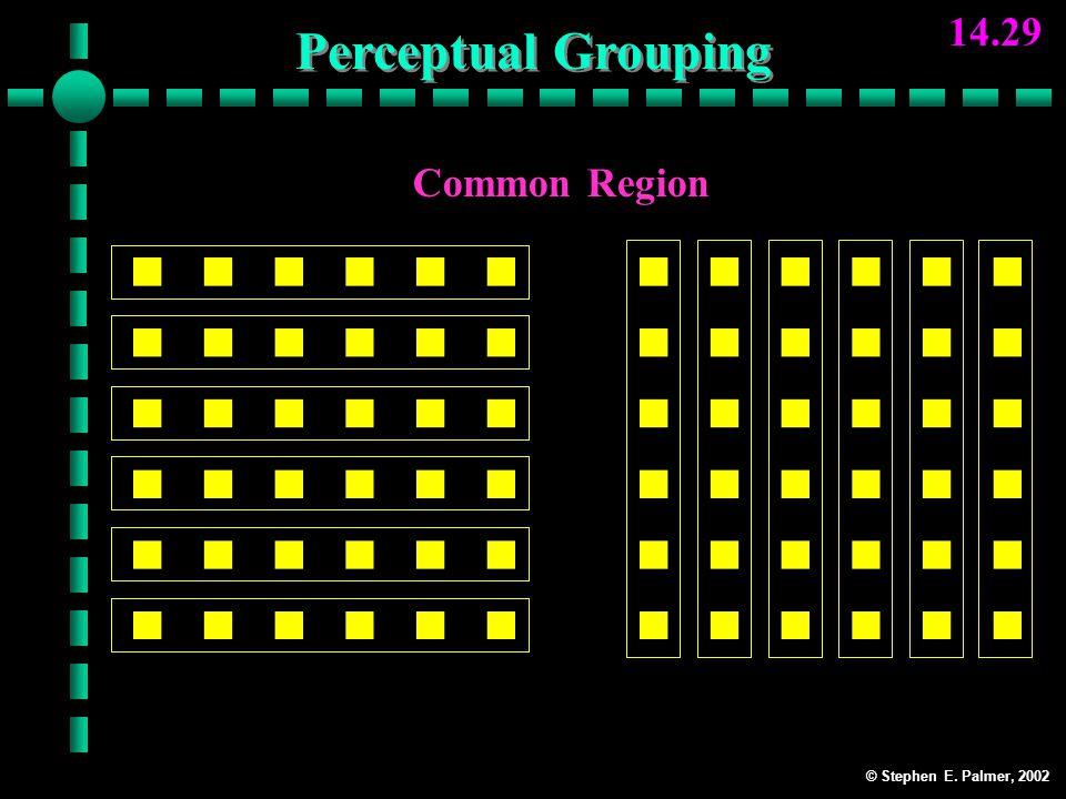 © Stephen E. Palmer, 2002 14.29 Common Region Rows Perceptual Grouping Columns