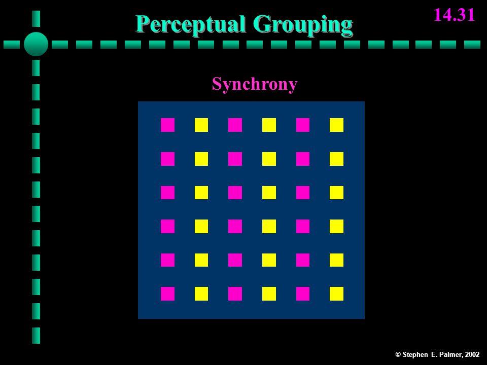 © Stephen E. Palmer, 2002 14.31 Synchrony Perceptual Grouping