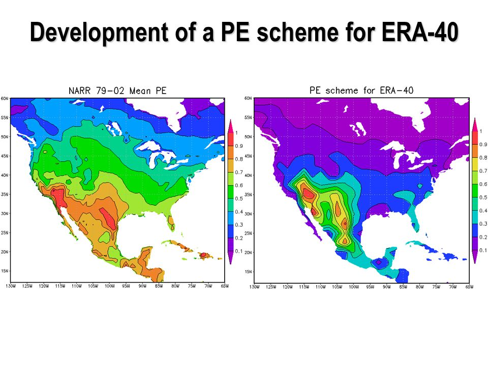 Development of a PE scheme for ERA-40