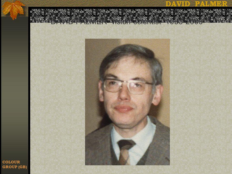 COLOUR GROUP (GB) DAVID PALMER vision scientist 1933-2000