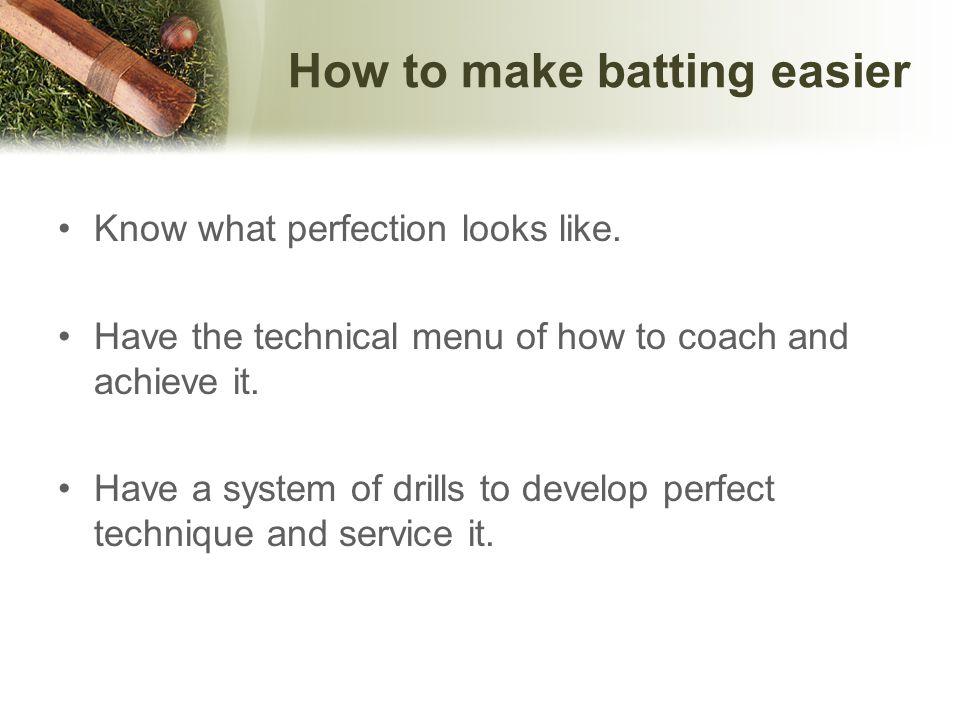 What is perfect technique.What constitutes a perfect technique.