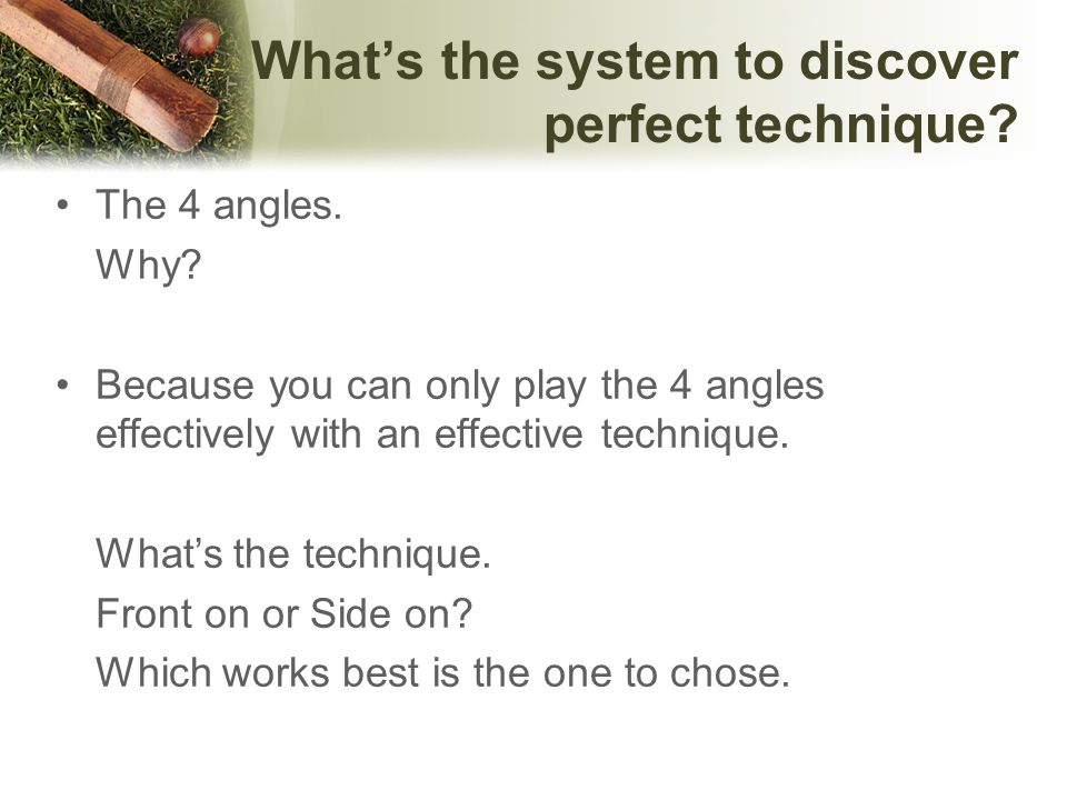 What is the 4 angles .