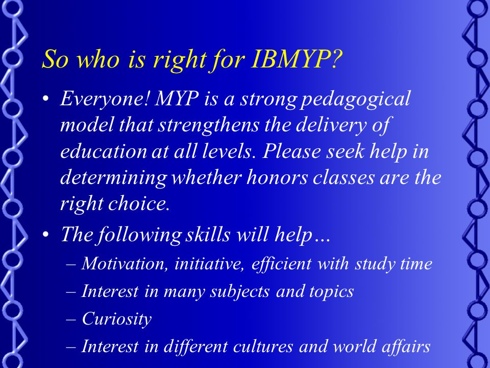 So who is right for IBMYP.Everyone.