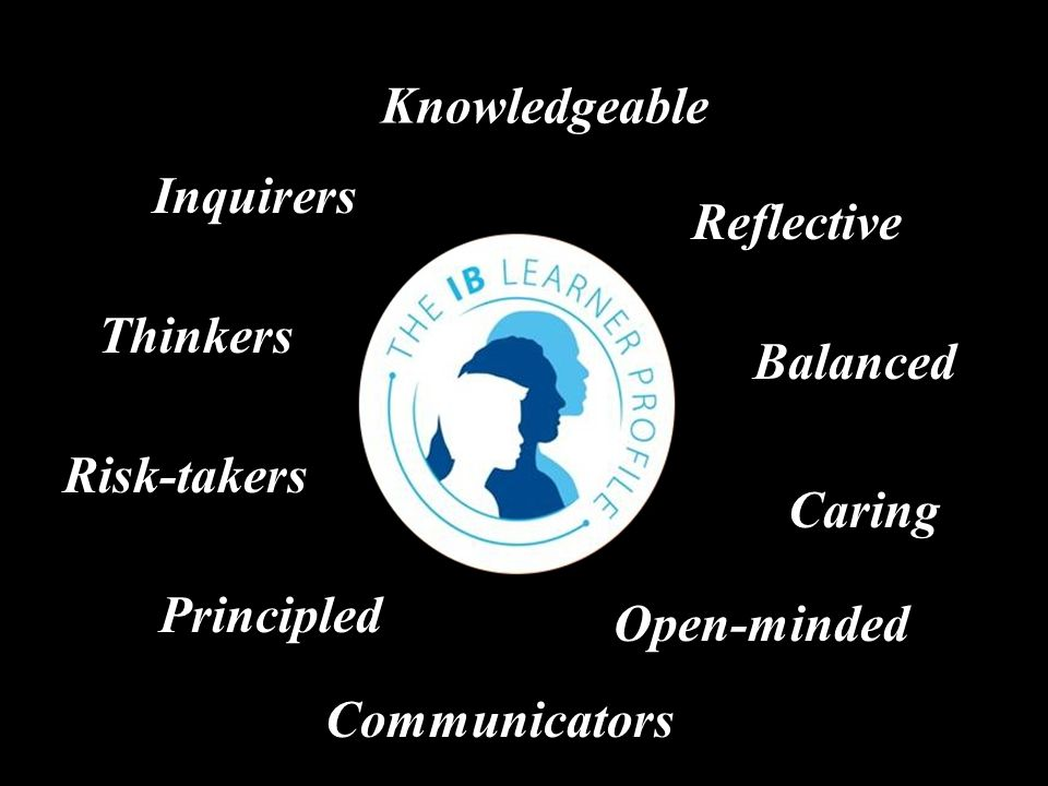 Inquirers Knowledgeable Thinkers Communicators Principled Caring Open-minded Risk-takers Balanced Reflective