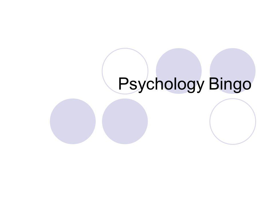 Psychology Bingo