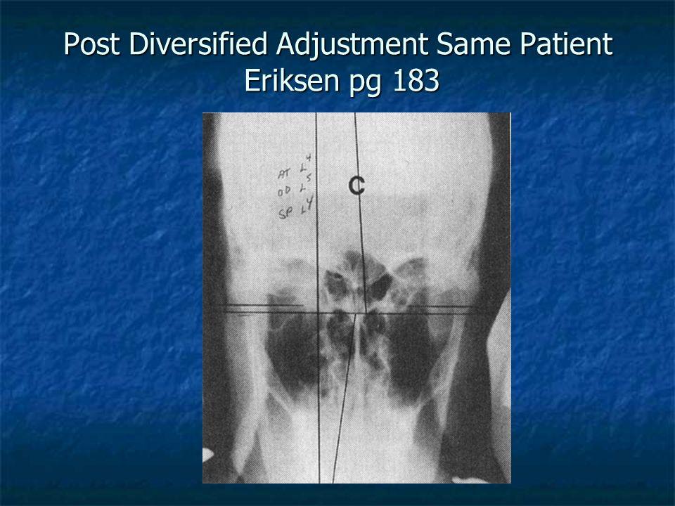 Post Diversified Adjustment Same Patient Eriksen pg 183