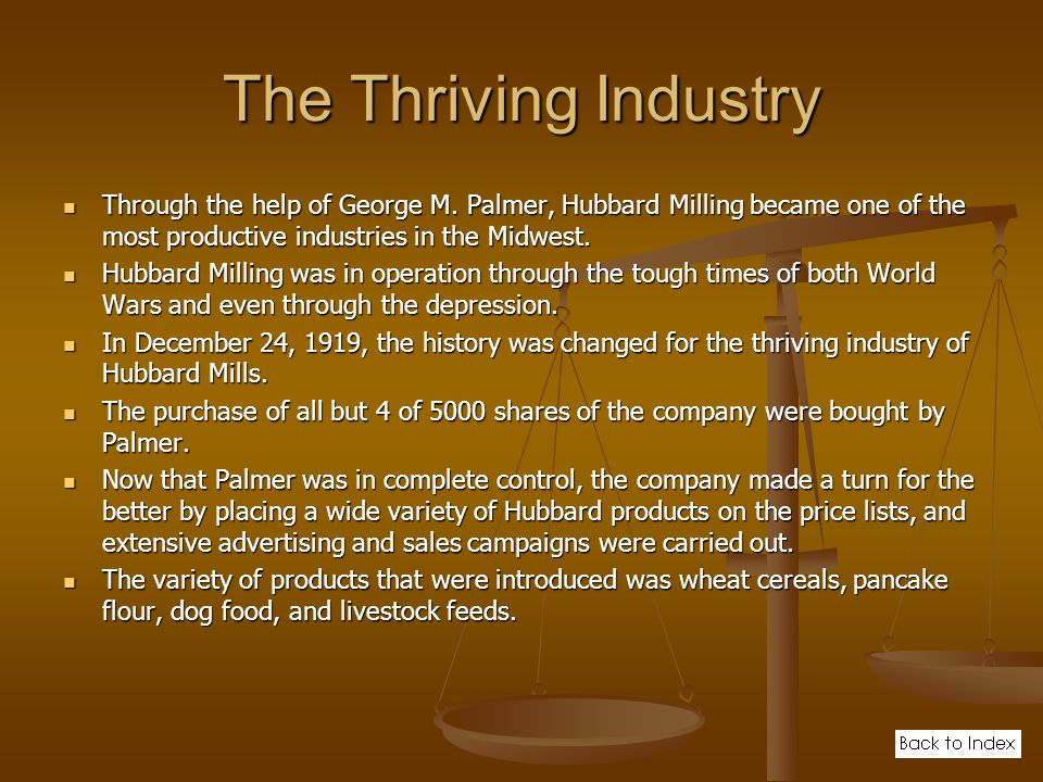 The Thriving Industry Through the help of George M.