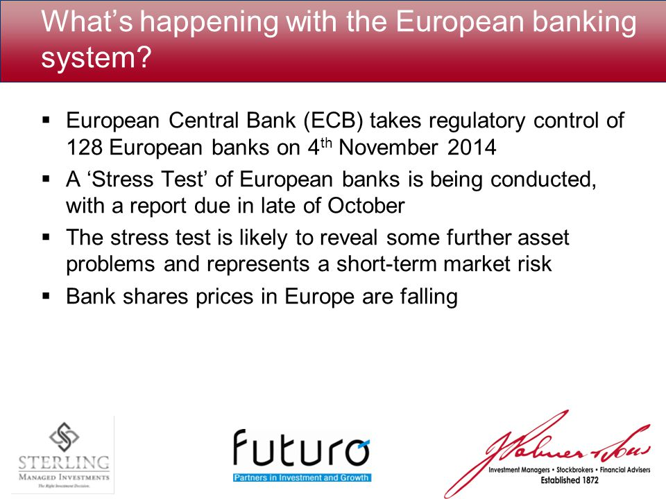 What's happening with the European banking system.