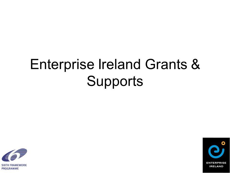 Enterprise Ireland Grants & Supports