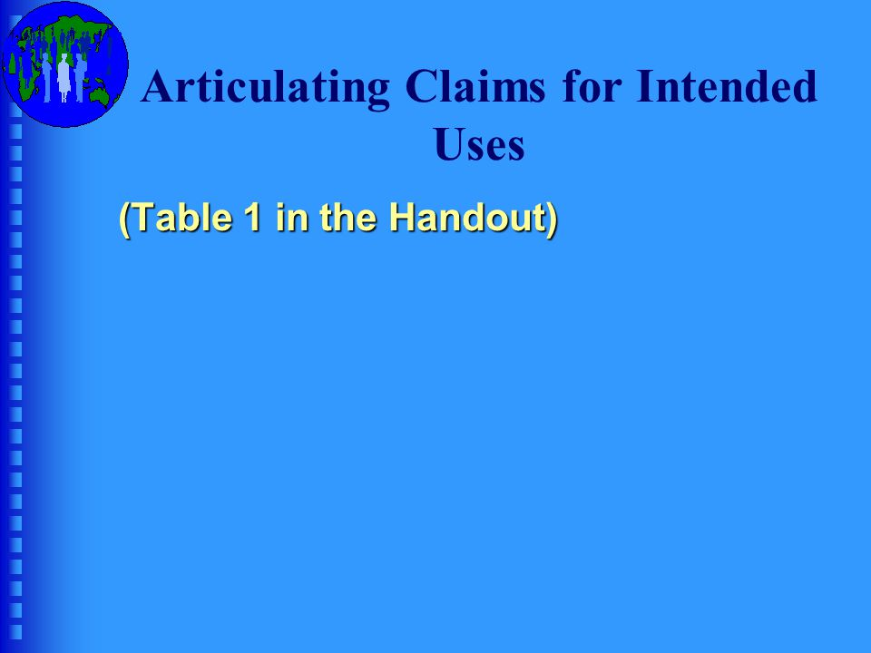 Qualities of Claims in an AUA Claim 1  Outcome: Consequences  Quality: Beneficence Articulate Claim 1: list and describe:  The intended consequences  The stakeholders